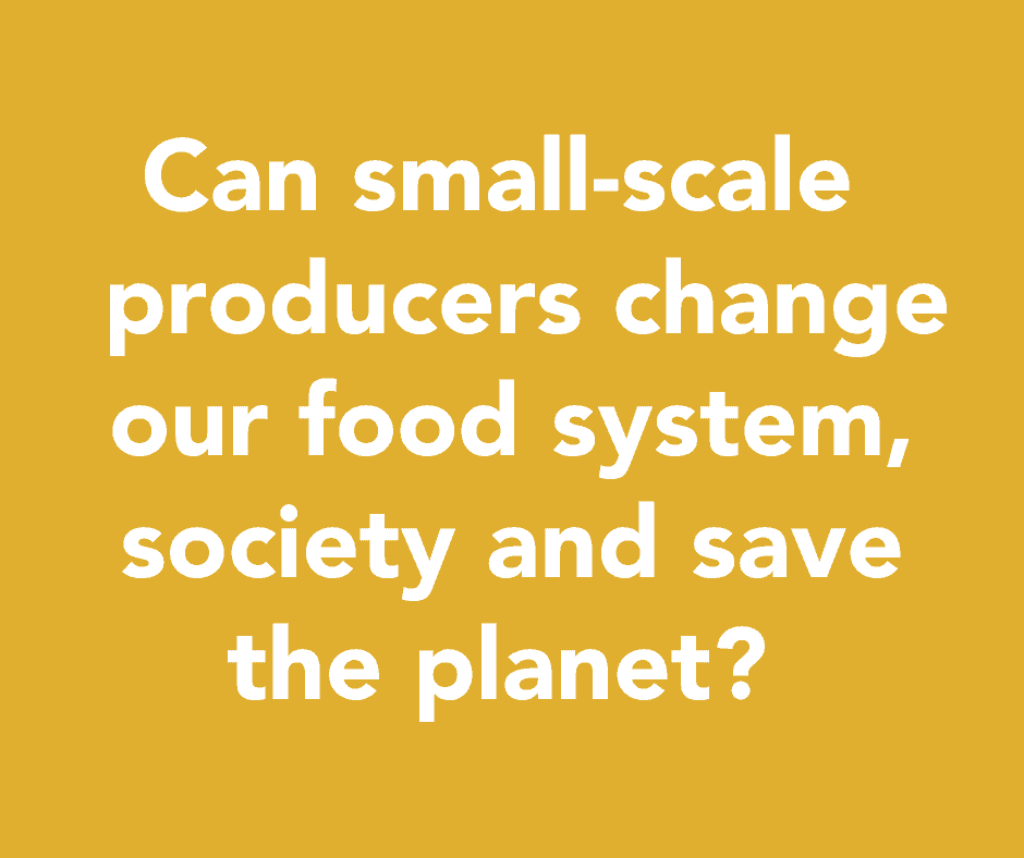 Can small-scale producers change our food system, society and save the planet?